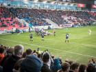 View from the south stand: Sale 14 Exeter 20