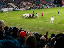 View from the south stand: Sale 32 Leicester 5
