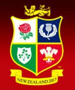 Lions Team for 1st Test