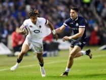 England's Anthony Watson talks to Sportsbeat