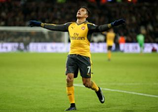 arsenal times sanchez hammers home hat trick player ratings. Black Bedroom Furniture Sets. Home Design Ideas
